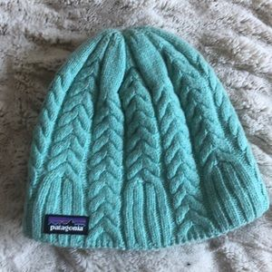 Patagonia cable knit wool hat